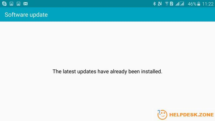 How to update Android: no updates
