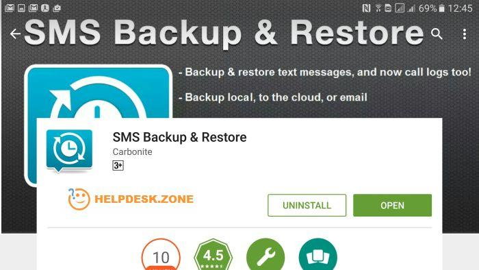 How to backup SMS on Android