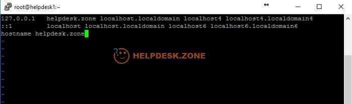 Add a hostname before installing Webmin