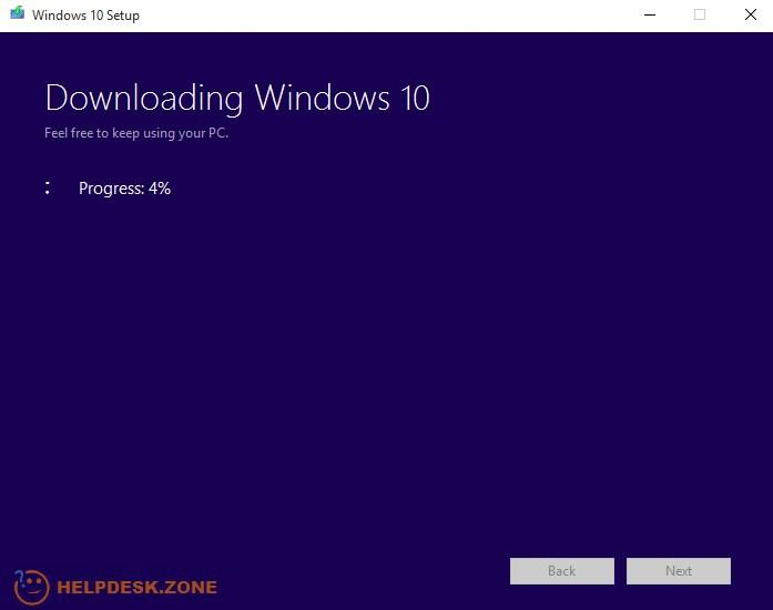 Downloading Windows 10 before creating a USB flash drive