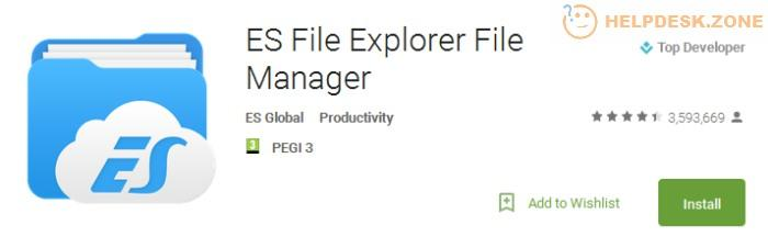 How to install the ES file Explorer