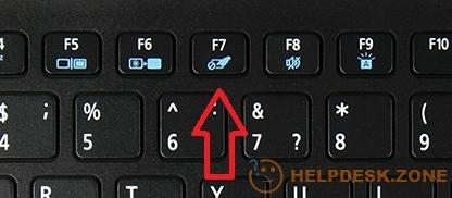 Disabling the touchpad with a keyboard shortcut