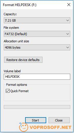 You should select FAT32 file system